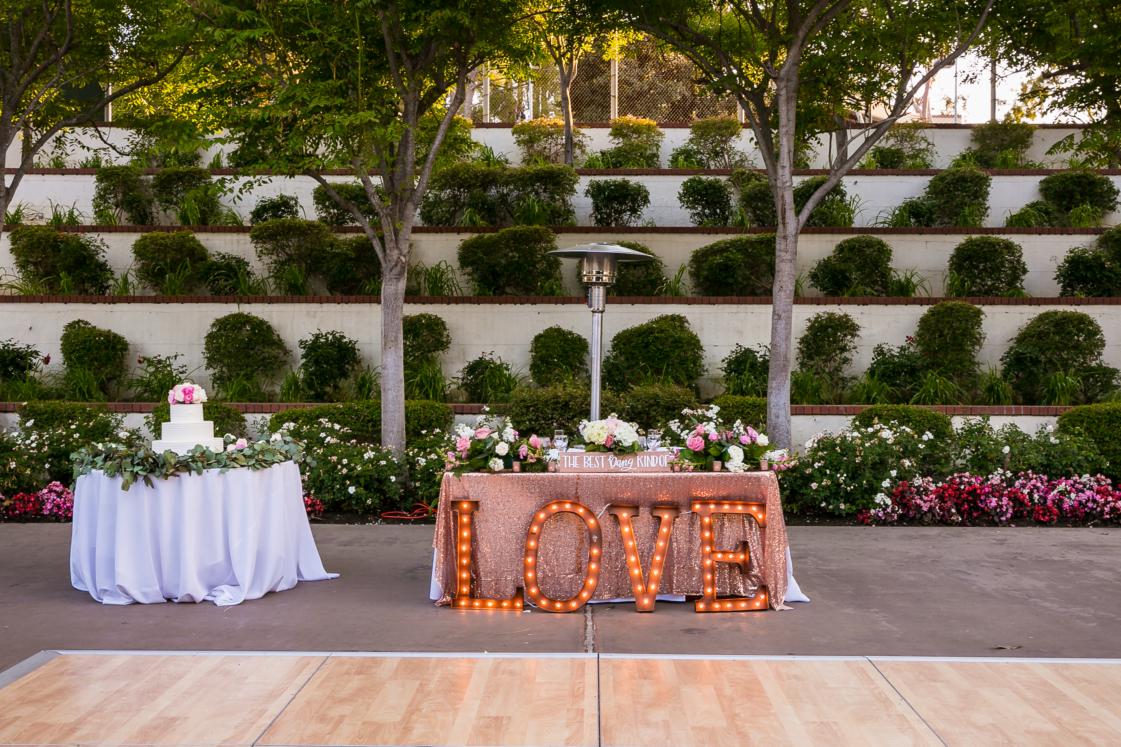 Los angeles outdoor wedding venue mountaingate country club Garden wedding venues los angeles