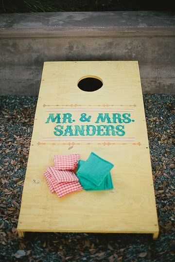 Wedding Date To Make The Game More Personal Your Guests Are Sure Laugh And Enjoy A Friendly Competition See Which Team Can Toss Most Beanbags